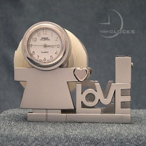Miniature Clocks, Boy/Girl Child TAPE DISPENSOR  Mini Clock